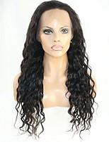 Donna Parrucche di capelli umani con retina Remy Senza colla e con tulle frontale 130% 150% Densità Con ciuffetti Onda effetto mare