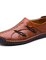 cheap -Men's Shoes Cowhide Leather Spring Fall Novelty Comfort Loafers & Slip-Ons for Casual Black Light Brown Dark Brown