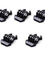 5x boucle clip montage basique pour gopro accessoires pour gopro hero 5 4 3 2 1 black silver session sjcam sj4000 sj5000 sj6000 camera