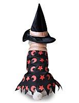 Katze Hund Kostüme Hundekleidung Party Cosplay Halloween Sterne Schwarz