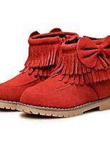 Fille Chaussures Cuir Hiver Confort Premières Chaussures Bottes de neige Doublure fluff Bottes Bottine/Demi Botte Noeud Gland Pour