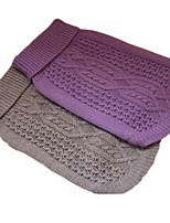Dog Sweater Dog Clothes Casual/Daily Geometric Purple Gray