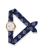 Women's Fashion Watch Quartz Water Resistant / Water Proof Fabric Band Unique Creative White Blue Red Orange