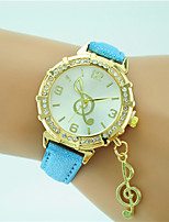 Women's Fashion Watch Wrist watch Quartz Rhinestone Leather Band Casual Black White Blue Orange Green Gold Pink