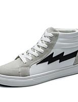 Da uomo Scarpe Scamosciato Estate Autunno Comoda Suole leggere Sneakers Lacci Per Casual Bianco Nero Bianco/nero