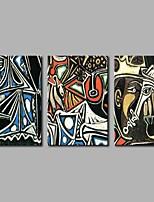 Hånd-malede Abstrakt Kunstnerisk Abstrakt Fødselsdag Moderne / Nutidig Kontor/Forretning Sej Jul Nytår Tre Paneler Kanvas Hang-Painted