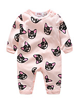 Baby Animal One-Pieces,Cotton Spring/Fall Long Sleeve