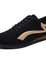 Men's Shoes PU Spring Fall Comfort Athletic Shoes Running Shoes Lace-up For Athletic Black/White Black/Gold White