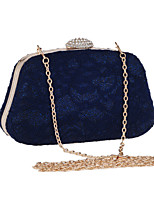 Women Bags All Seasons Silk Evening Bag Lace for Wedding Event/Party Blue White Black Almond
