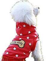Dog Hoodie Dog Clothes Casual/Daily Stars Red Black White