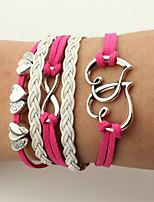 Men's Women's Wrap Bracelet Leather Bracelet Jewelry Heart Handmade Leather Alloy Heart Infinity Jewelry For Wedding Party Birthday