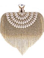 Donna Sacchetti Per tutte le stagioni Poliestere Borsa da sera Dettagli con cristalli Fiore (i) Dettagli con perline per Matrimonio