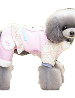 Dog Clothes/Jumpsuit Dog Clothes Casual/Daily Cartoon Blushing Pink Blue Purple