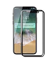 Hartglas Displayschutzfolie für Apple iPhone X Vorderer Bildschirmschutz 9H Härtegrad Anti-Fingerprint