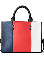 Women Bags All Seasons PU Tote Pattern / Print for Casual Office & Career White Red