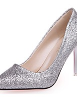 Women's Shoes Paillette Fall Basic Pump Heels Stiletto Heel Pointed Toe Sequin For Casual Silver Black Gold