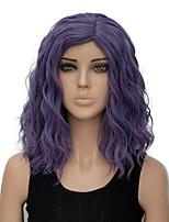 Damen Synthetische Perücken Kappenlos Kurz Gewellt Lila Gefärbte Haarspitzen (Ombré Hair) Halloween Perücke Kostümperücke