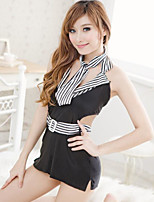 Women's Uniforms & Cheongsams Ultra Sexy Suits Nightwear,Sexy Color Block-Thin Polyester