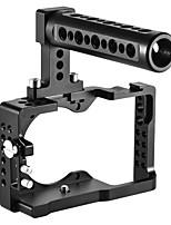andoer videocamera gabbia top kit maniglia in lega di alluminio per sony a6500 ildc per montare monitor microfono treppiede accessori luce