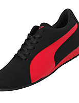 Men's Shoes PU Fall Winter Comfort Sneakers Lace-up For Casual Black/Red Black/White