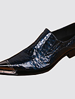 Men's Shoes Nappa Leather Spring Fall Comfort Novelty Loafers & Slip-Ons Rivet For Wedding Party & Evening Blue