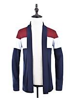 Men's Casual/Daily Street chic Regular Cardigan,Striped Color Block Halter Long Sleeves Polyester Fall Winter Medium Micro-elastic