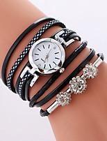 Per donna Orologio alla moda Orologio braccialetto Quarzo PU Banda Fantastico Casual Nero Bianco Rosa