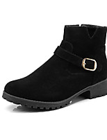 Women's Shoes Nubuck leather Leatherette Fall Winter Fashion Boots Bootie Boots Chunky Heel Round Toe Booties/Ankle Boots Buckle Zipper