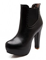 Da donna Scarpe Finta pelle Autunno Inverno Comoda Innovativo Stivaletti alla caviglia Stivaletti Quadrato Punta tonda
