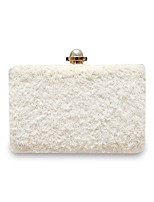 Women Bags All Seasons Polyester Evening Bag Pearl Detailing for Event/Party White Blushing Pink