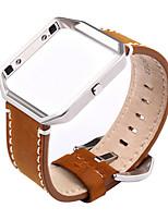 Недорогие -высокое качество ручной работы рама ретро кожаный ремешок металла для FitBit блеске