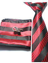 Men's Polyester Neck TieStriped Striped All Seasons