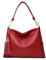 Women Bags All Seasons PU Shoulder Bag Zipper for Casual Office & Career Black Purple Wine