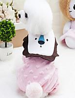 Hund Overall Hundekleidung Lässig/Alltäglich Britisch Gelb Rosa