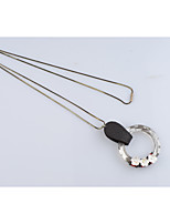 Women's Pendant Necklaces Geometric Crystal Leather Fashion Simple Style Jewelry For Gift Daily