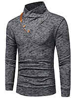 Men's Daily Plus Size Sweatshirt Solid Micro-elastic Polyester Long Sleeves