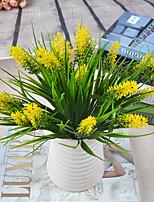 1 Une succursale Plastique Lavande Fleur de Table Fleurs artificielles
