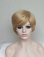 Women Synthetic Wig Capless Short Natural Wave Blonde With Bangs Party Wig Natural Wigs Costume Wig