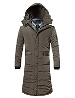 Men's Padded Coat,Simple Casual/Daily Solid-Cotton Cotton Long Sleeves
