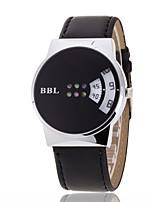 Men's Women's Dress Watch Fashion Watch Wrist watch Chinese Quartz PU Band Charm Elegant Casual Black White