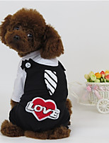 Dog Harness Dog Clothes Casual/Daily Hearts White/Black Red