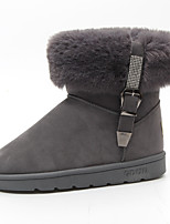 Women's Shoes Fabric Fall Winter Comfort Boots Flat Heel Booties/Ankle Boots For Casual Brown Gray Black