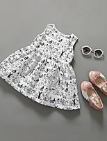 Girl's Casual/Daily Cartoon Dress,Cotton Summer Sleeveless
