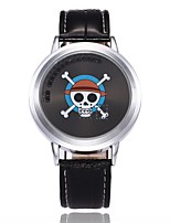 Men's Sport Watch Fashion Watch Unique Creative Watch Chinese Digital LED PU Band Skull Unique Creative Casual