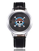 Herrn Sportuhr Modeuhr Einzigartige kreative Uhr Chinesisch digital LED PU Band Totenkopf Kreativ Bequem