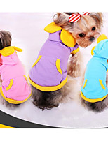 Dog Hoodie Dog Clothes Casual/Daily Color Block Light Blue Blushing Pink Purple