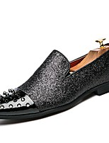 Men's Shoes Synthetic Microfiber PU Spring Fall Moccasin Driving Shoes Novelty Loafers & Slip-Ons Rivet For Casual Party & Evening Black