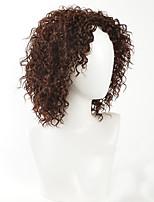 жен. Парики из искусственных волос Без шапочки-основы Средний Кудрявые Бежевый Парик в афро-американском стиле Парик из натуральных волос