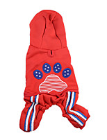 Dog Clothes/Jumpsuit Dog Clothes Keep Warm Solid Blue Red