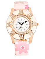 JUBAOLI Women's Fashion Watch Wrist watch Chinese Quartz Large Dial Leather Band Cool Casual Pink Beige Navy